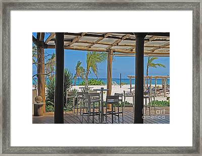 Playa Blanca Restaurant Bar Area Punta Cana Dominican Republic Framed Print