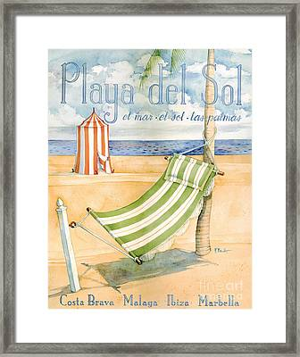 Playa Del Sol Framed Print by Paul Brent
