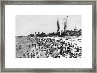 Playa Pocitos In Uruguay Framed Print