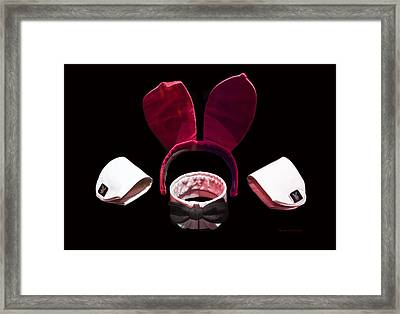 Playboy Bunny Costume Accessories Framed Print by Thomas Woolworth