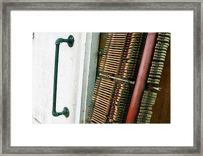 Played Piano Hammers Framed Print by Paulette Maffucci
