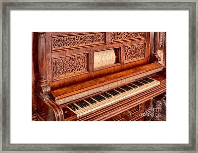Piano Keys In The Key Of Life Framed Print by Inge Johnsson