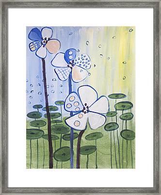 Playful Daisies  Framed Print