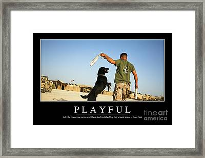 Playful Inspirational Quote Framed Print by Stocktrek Images