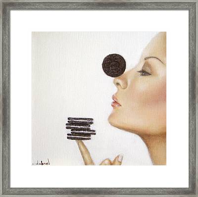 Playful  Framed Print by Junko Van Norman