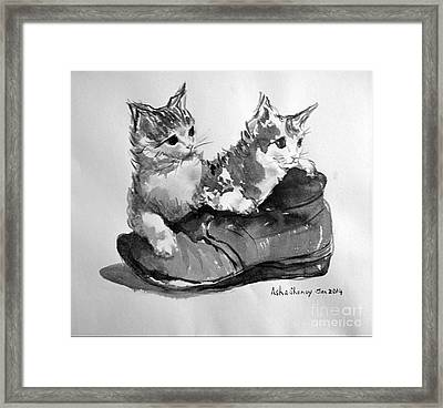 Playful Kittens Framed Print