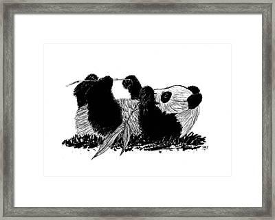 Playful Panda Framed Print