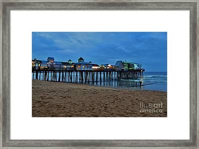 Playful Pier Framed Print