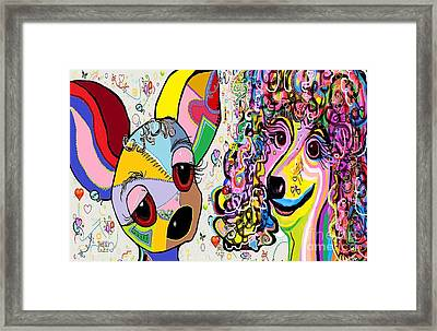 Playful Pups Framed Print by Eloise Schneider