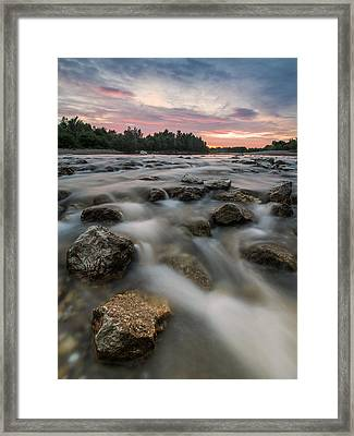 Playful River Framed Print by Davorin Mance