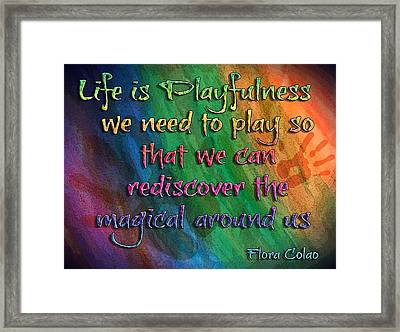 Playfulness Framed Print by Michelle Rene Goodhew