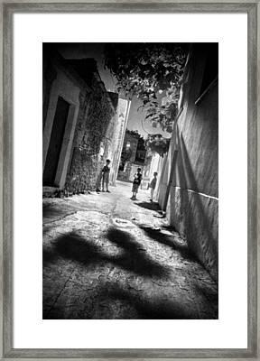 Playground Shadows Framed Print