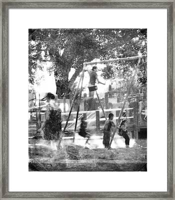 Playground Framed Print by Theresa Tahara