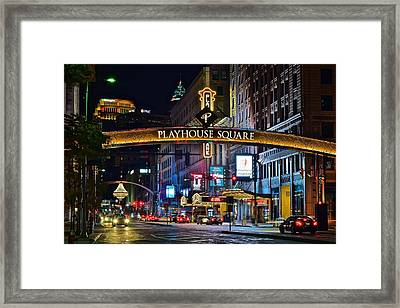 Playhouse Square Framed Print