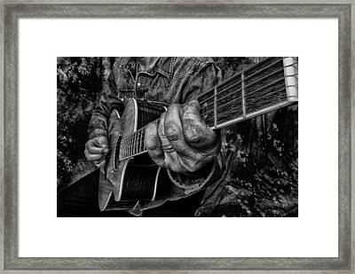 Playin The Blues Framed Print