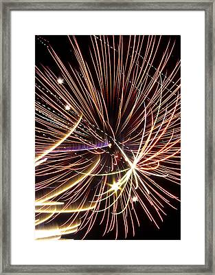 Playin With Fireworks Framed Print