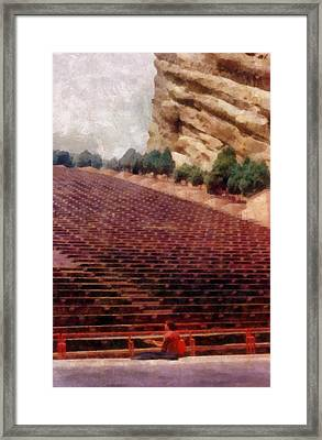 Playing At Red Rocks Framed Print