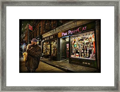 Playing At The Pink Pussycat Boutique Framed Print