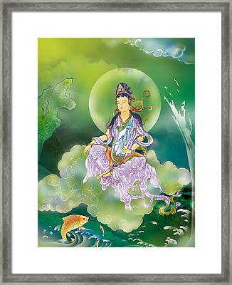 Framed Print featuring the photograph Playing Avalokitesvara   by Lanjee Chee