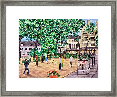 Playing Boules At Betty's Cafe- Harrogate Framed Print by Ronald Haber