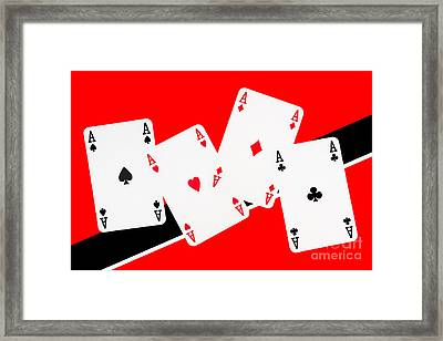Playing Cards Aces Framed Print