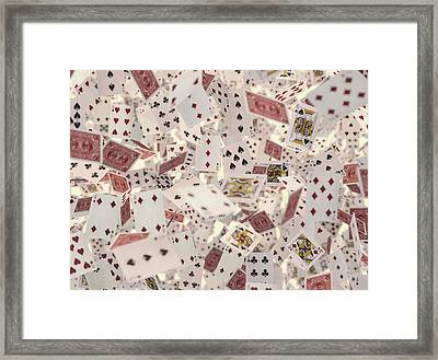 Playing Cards Framed Print by Ktsdesign