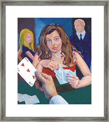 Playing Cards Framed Print by Mike Jory