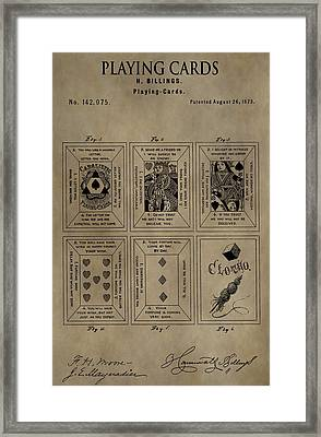 Playing Cards Patent Framed Print by Dan Sproul