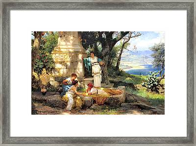 Playing Dice Framed Print