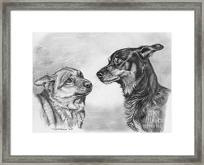 Playing Dog's Emotions Framed Print by Svetlana Ledneva-Schukina