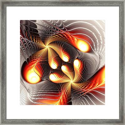 Playing Dragons Framed Print by Anastasiya Malakhova