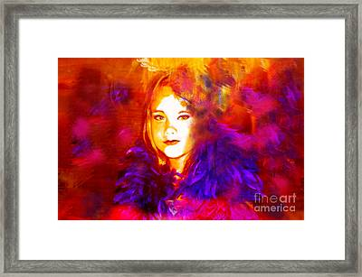 Framed Print featuring the digital art Playing Dress Up by Angelique Bowman