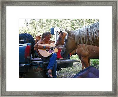Playing For The Herd Framed Print