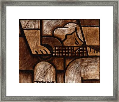 Tommervik Man Playing Acoustic Guitar Art Framed Print