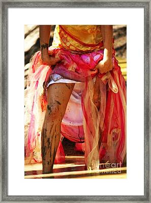 Playing In The Mud Framed Print by Alanna DPhoto