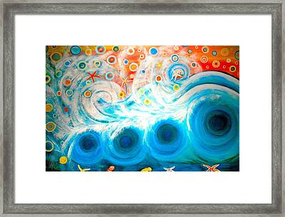 Playing In The Waves Framed Print
