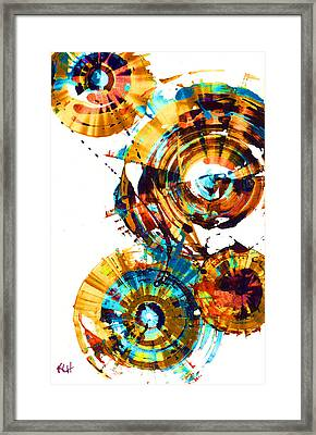 Framed Print featuring the painting Playing In The Wind 1000.042312 - Popart-1 by Kris Haas