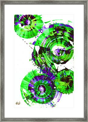 Framed Print featuring the painting Playing In The Wind 1000.042312 - Popart-2 by Kris Haas