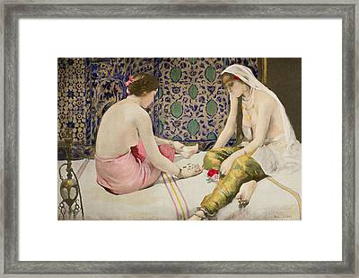 Playing Knucklebones Framed Print by Paul Alexander Alfred Leroy