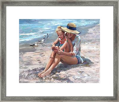 Playing Little Piggies Framed Print by Laurie Hein