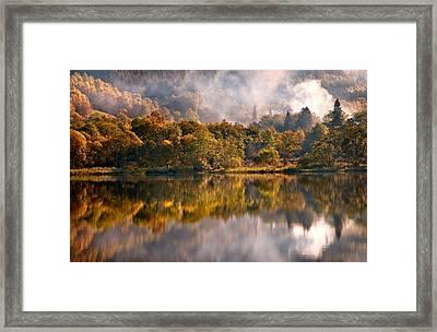 Playing Mirror. Loch Achray. Scotland Framed Print by Jenny Rainbow