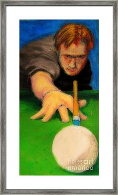 Playing Pool Framed Print by John Malone