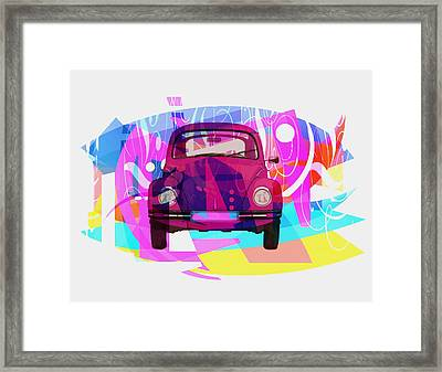 Playing Shapes Cars 02 Framed Print by Joost Hogervorst