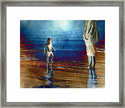 Playing Framed Print by Steven  Michael