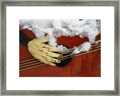 Playing The Cold Blues Framed Print