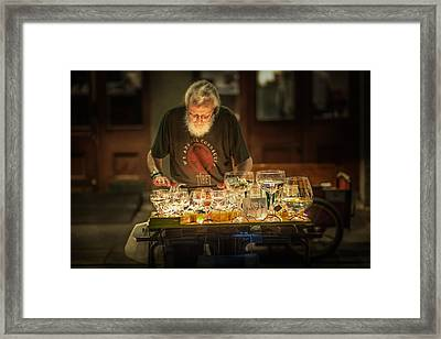 Playing The Glasses Framed Print by Brenda Bryant