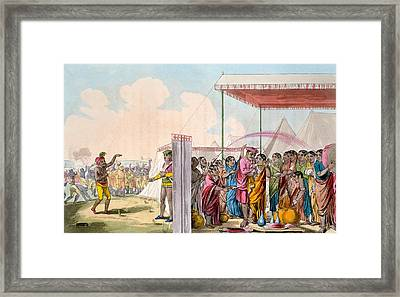 Playing The Hohlee, From The Costume Framed Print by Deen Alee