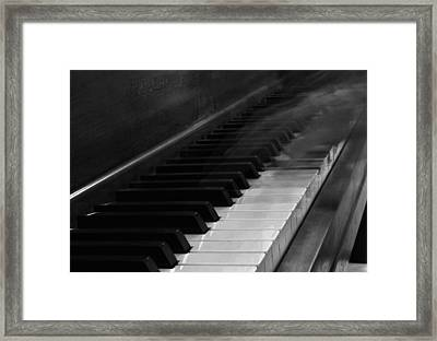 Playing The Piano Framed Print