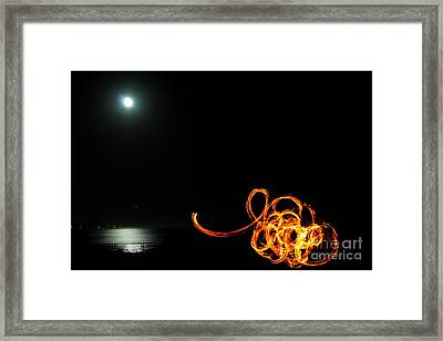 Playing With Fire 1 Framed Print by Theresa Ramos-DuVon