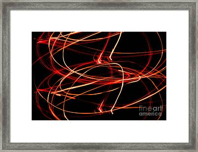 Playing With Fire 13 Framed Print by Cheryl McClure